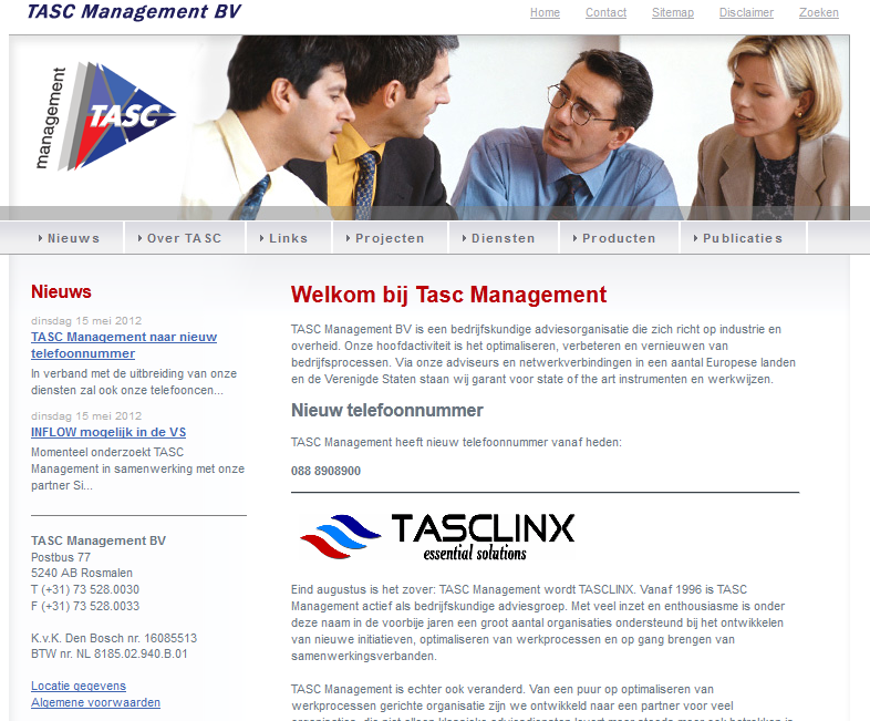 TASC Management gaat over in TASCLINX